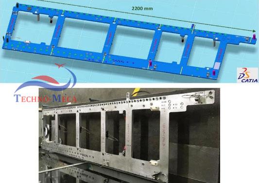 Etude et réalisation de grille de perçage 3 axes capable de percer et aleser des rails plancher